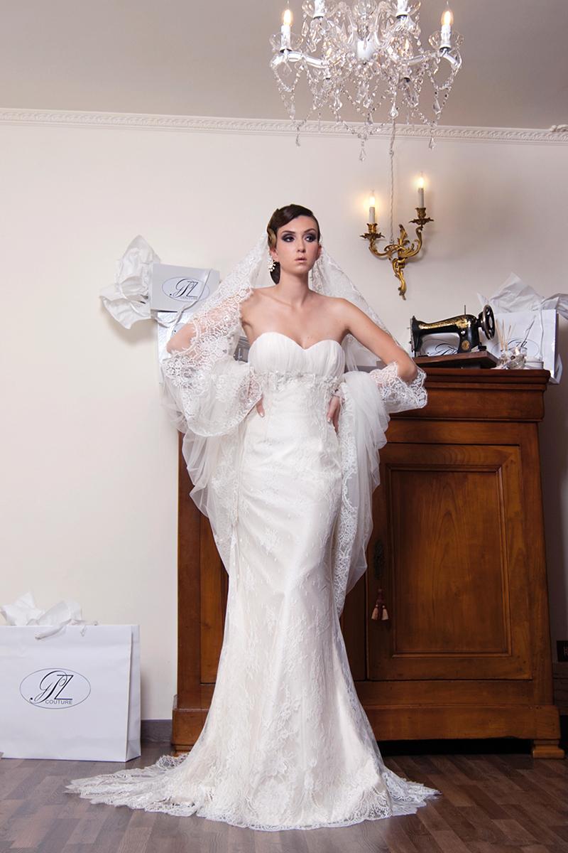 Abito da sposa elegante Roma
